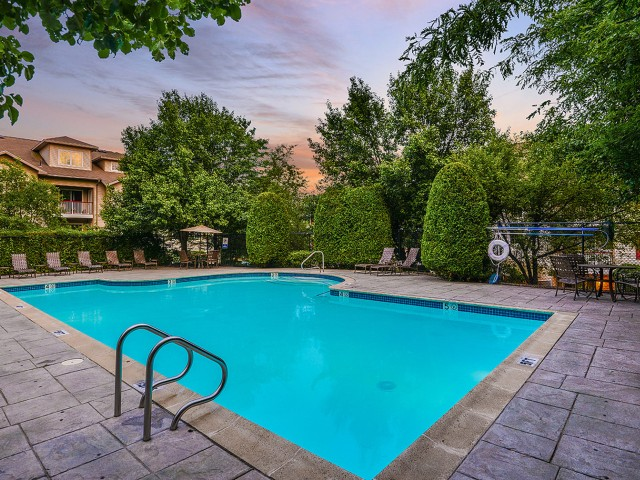 Apartment community pool