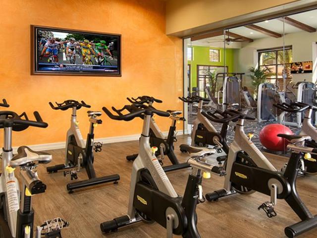Cycling studio with fitness on demand classes | Villas at San Dorado gym