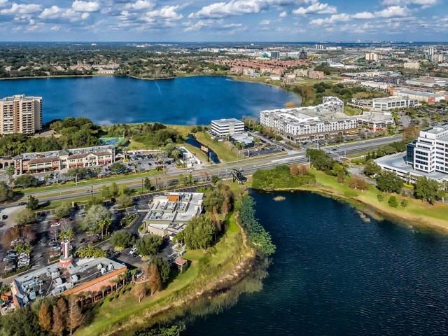 Aerial of Rialto neighborhood in Orlando