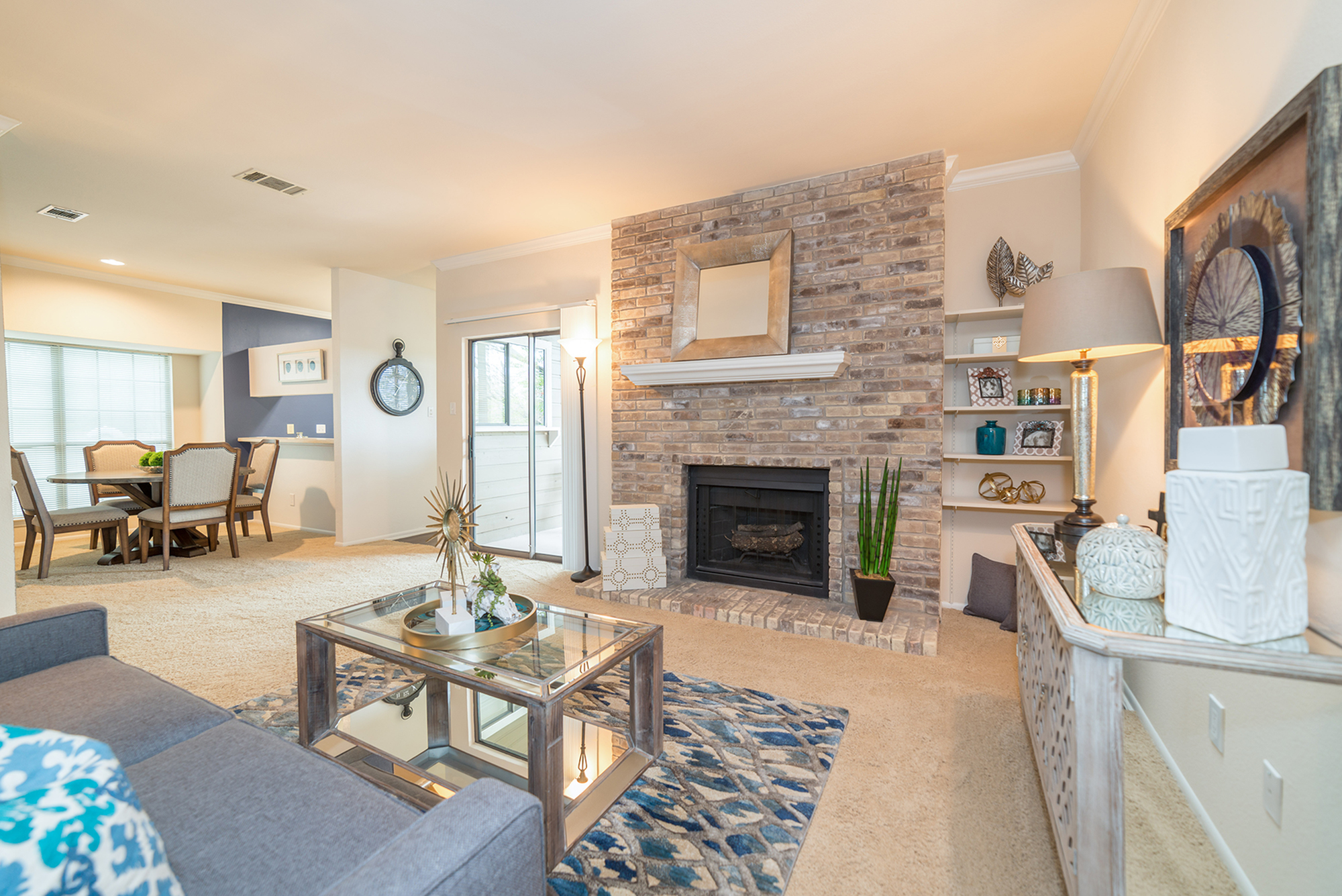 Image of Cozy Wood Burning Fireplace for High Oaks Apartment Homes
