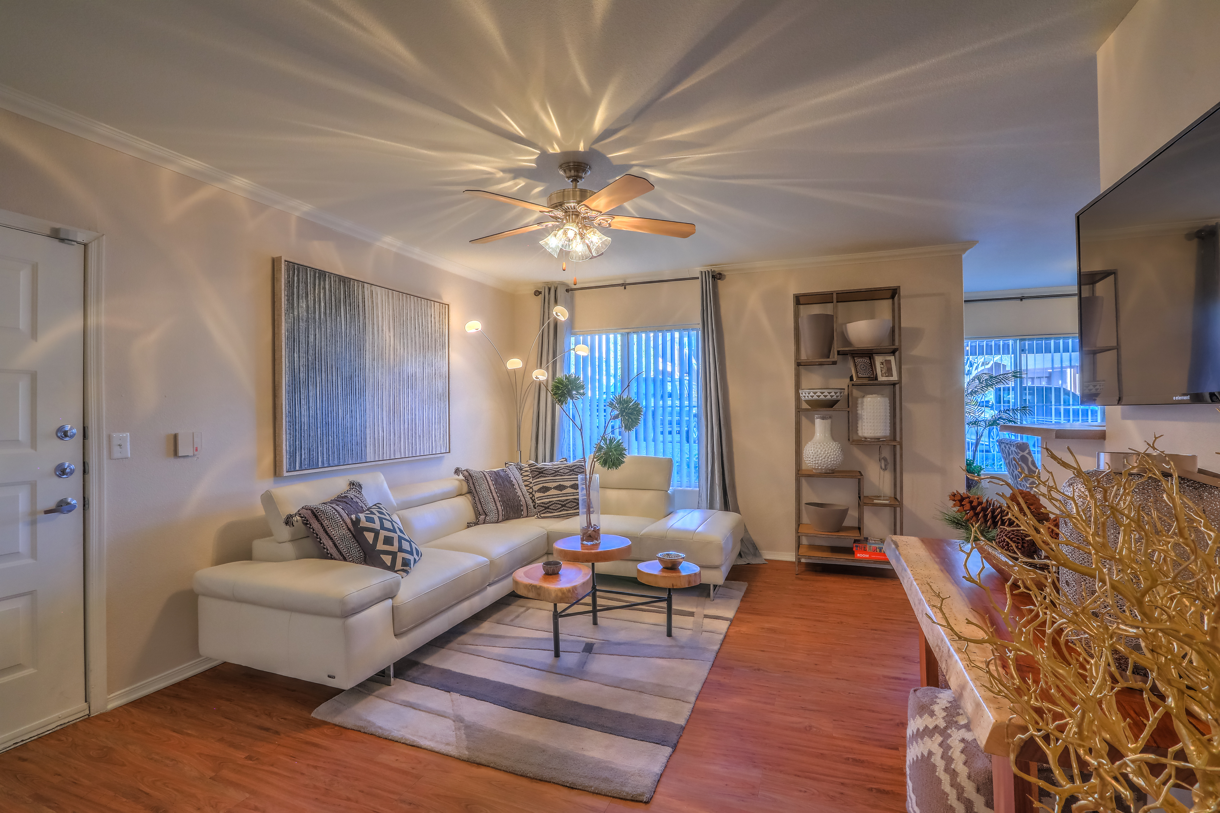 Living room in 2 bedroom apartment home in Altezza