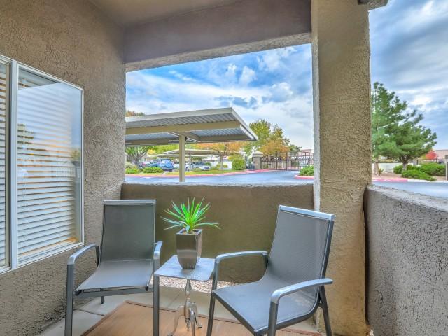 private patio | Arterra apartments in Albuquerque NM