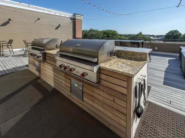 Image of State-of-the-Art Outdoor Grills for The Merc at Moody and Main