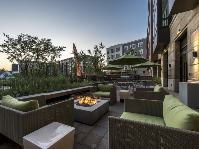 Image of Patio Area with Fire Pit for The Merc at Moody and Main