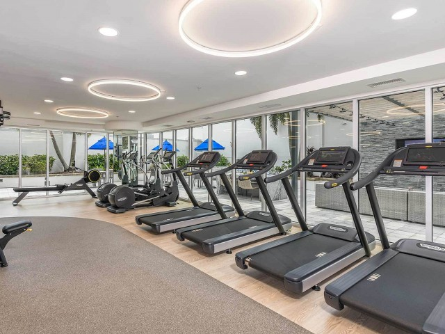Fitness center cardio equipment | Paramount apartment building