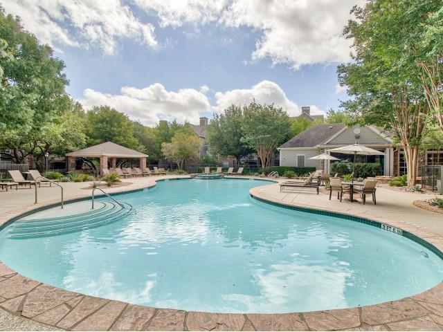 Lodge at Lakeline community pool | Cedar Park TX apartments