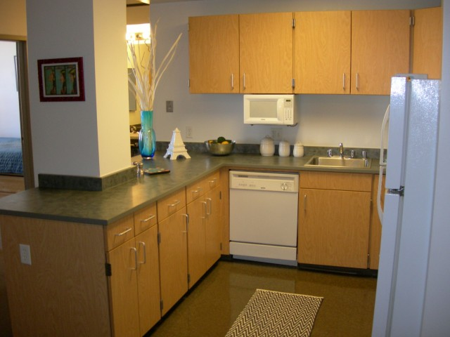 Image of Fully Equipped Kitchens with Full-Size Appliances Including Microwaves for Auraria Student Lofts