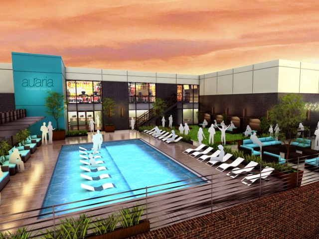 Image of YEAR ROUND Rooftop Salt Water Lounge Pool for Auraria Student Lofts