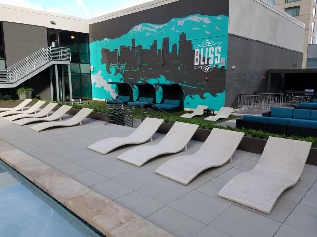 Image of Stylish Poolside Cabanas for Auraria Student Lofts