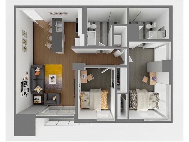 B1 Aerial floor plan