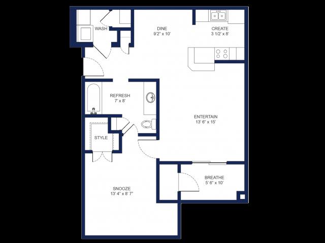 The Hanover  One Bedroom/One Bathroom
