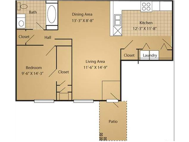 Floor Plan 2 | Arbor Ridge Apartments