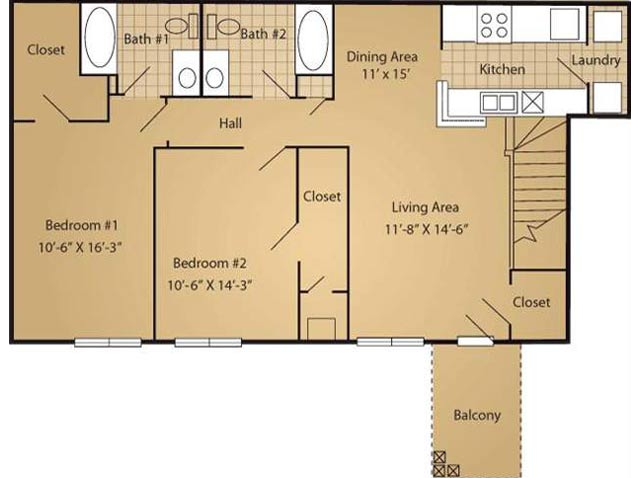 Floor Plan 3 | Arbor Ridge Apartments