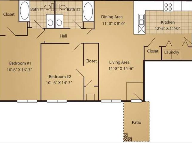 Floor Plan 4 | Arbor Ridge Apartments