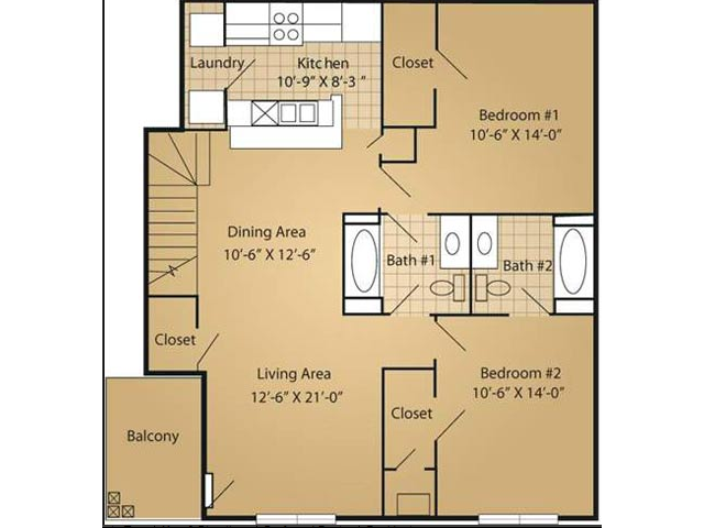 Floor Plan 5 | Arbor Ridge Apartments
