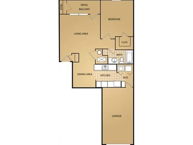 Floor Plan | Saint James Place Apartments