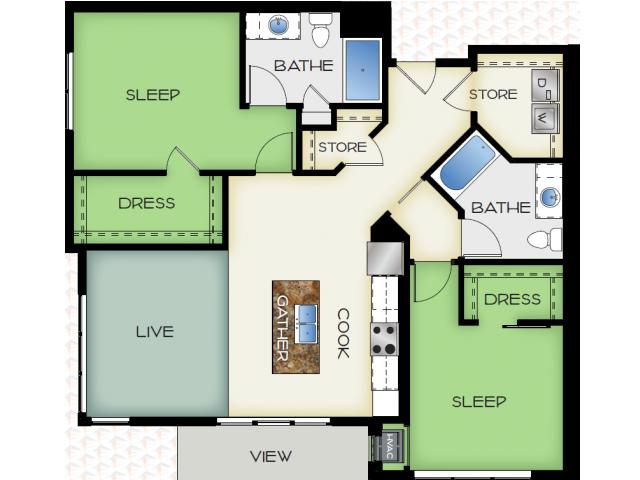 Floor Plan 4 | 50Twenty Apartments