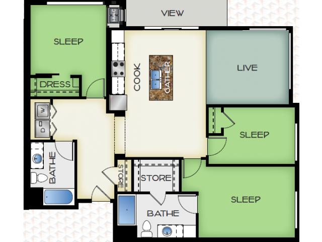 Floor Plan 5 | 50Twenty Apartments