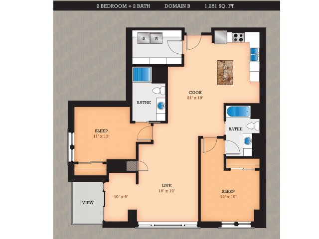 Floor Plan | Domain Apartments
