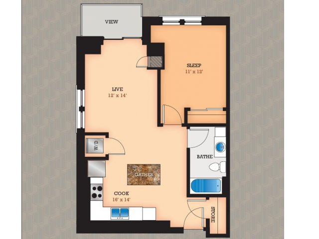 Floor Plan 4 | Domain Apartments