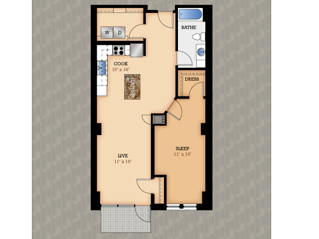 Floor Plan 5 | Domain Apartments