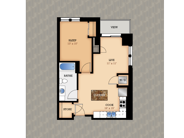Floor Plan 11 | Domain Apartments