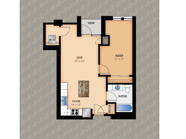 Floor Plan 12 | Domain Apartments