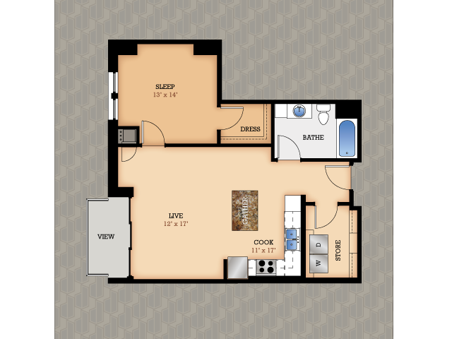 Floor Plan 13 | Domain Apartments