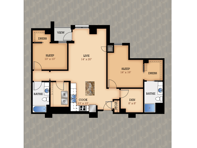 Floor Plan 16 | Domain Apartments
