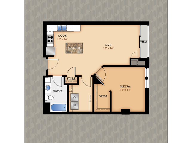 Floor Plan 18 | Domain Apartments