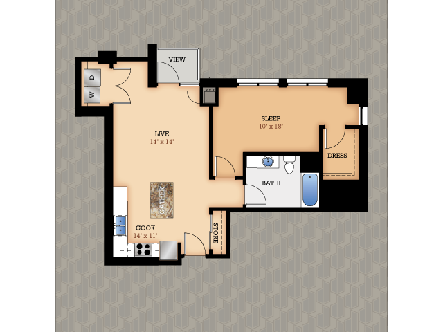 Floor Plan 19 | Domain Apartments