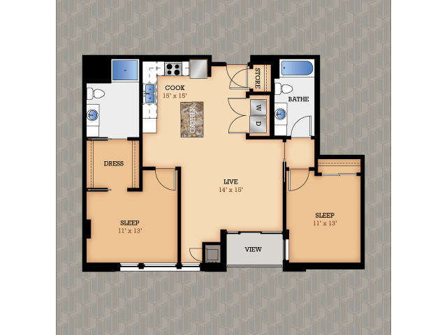 Floor Plan 7 | Domain Apartments