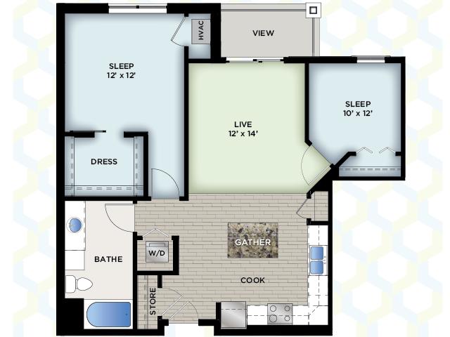 Floor Plan 2 | The Vue Apartments