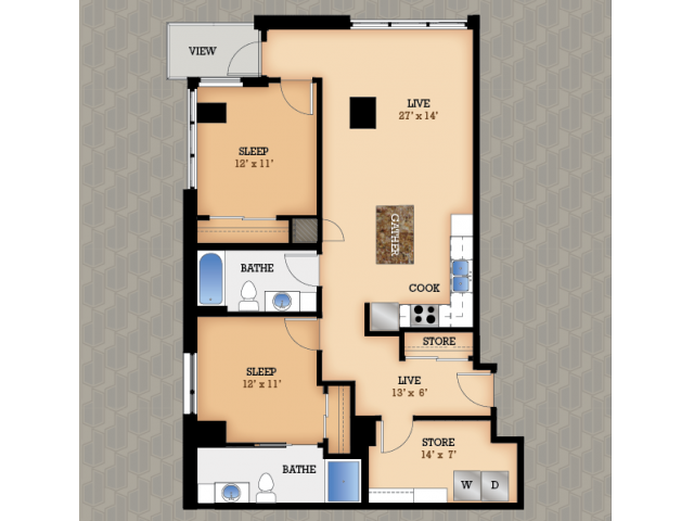 Floor Plan 42 | Domain Apartments
