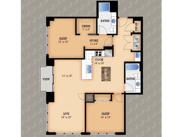 Floor Plan 40 | Domain Apartments