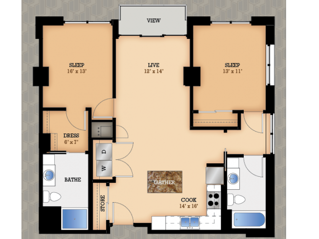 Floor Plan 37 | Domain Apartments