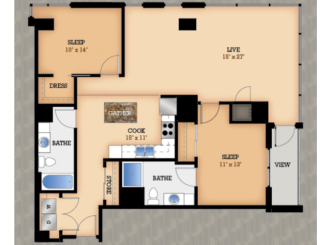 Floor Plan 36 | Domain Apartments