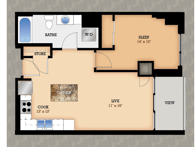 Floor Plan 31 | Domain Apartments