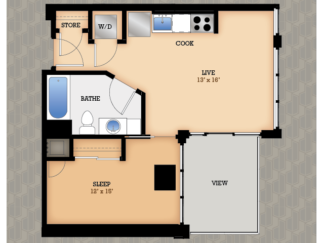 Floor Plan 26 | Domain Apartments