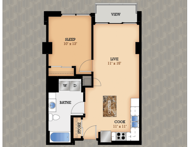 Floor Plan 34 | Domain Apartments