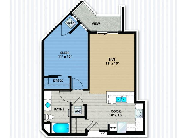 Floor Plan 2 | The Woodlands Apartments