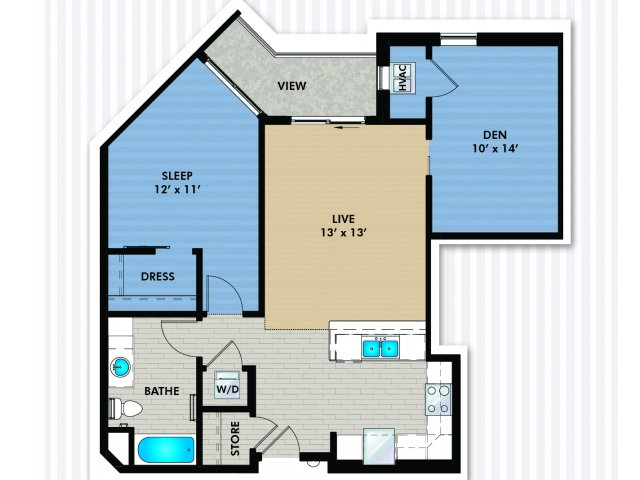 Floor Plan C2 | The Woodlands Apartments | Apartments in Menomonee Falls, WI