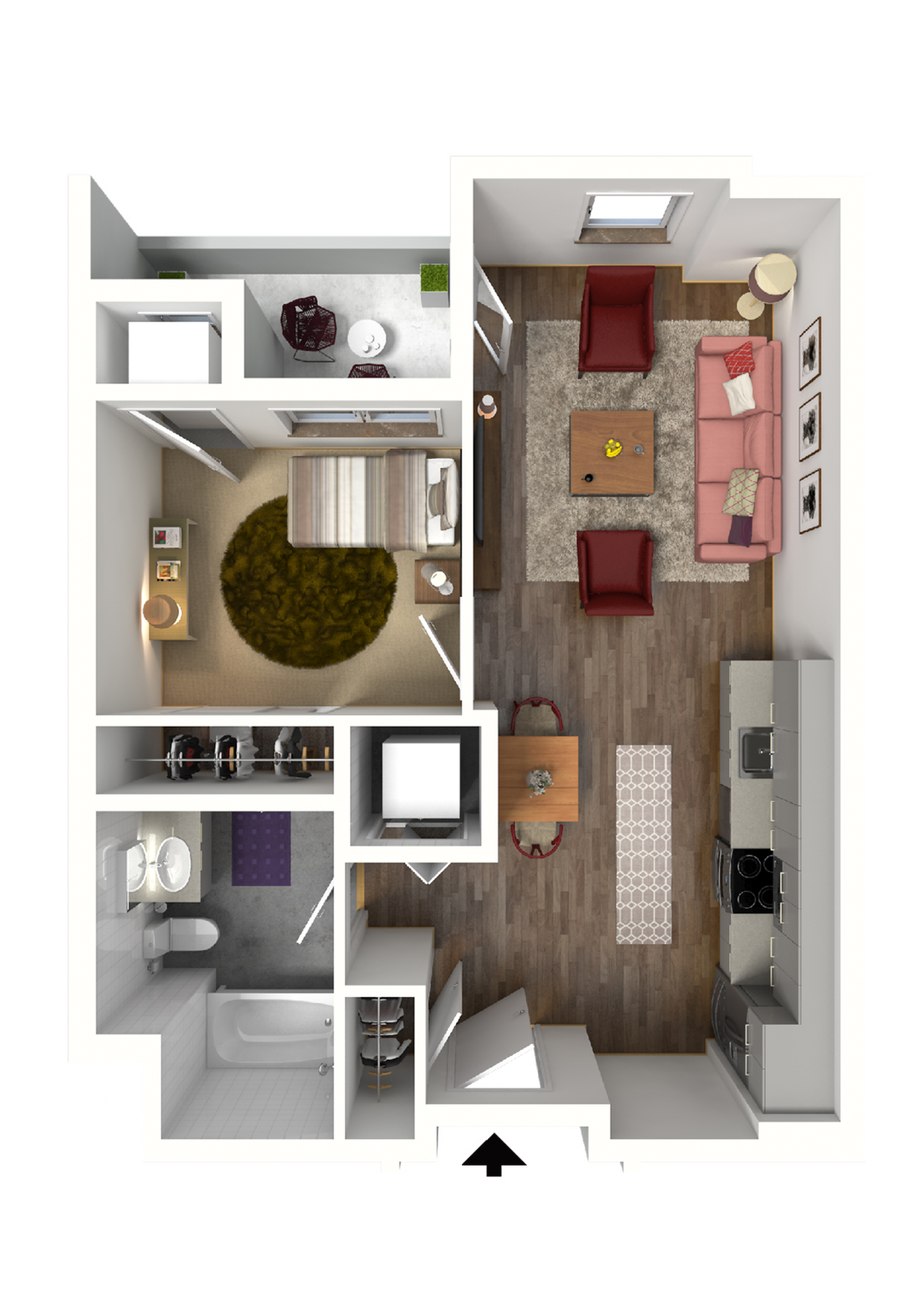 Floor Plan A1 | 22 Slate | Apartments in Madison, WI