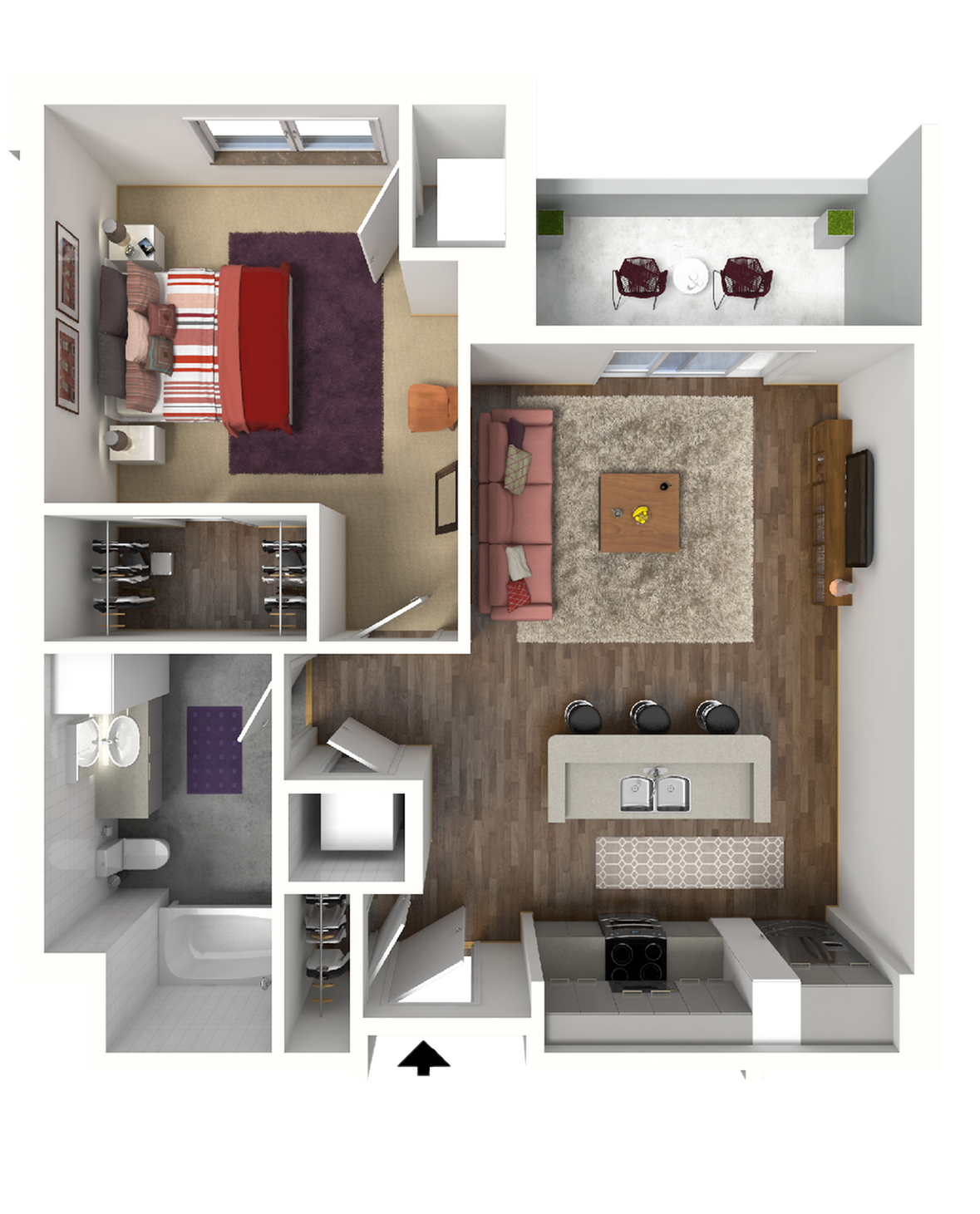 Floor Plan B3 | 22 Slate | Apartments in Madison, WI