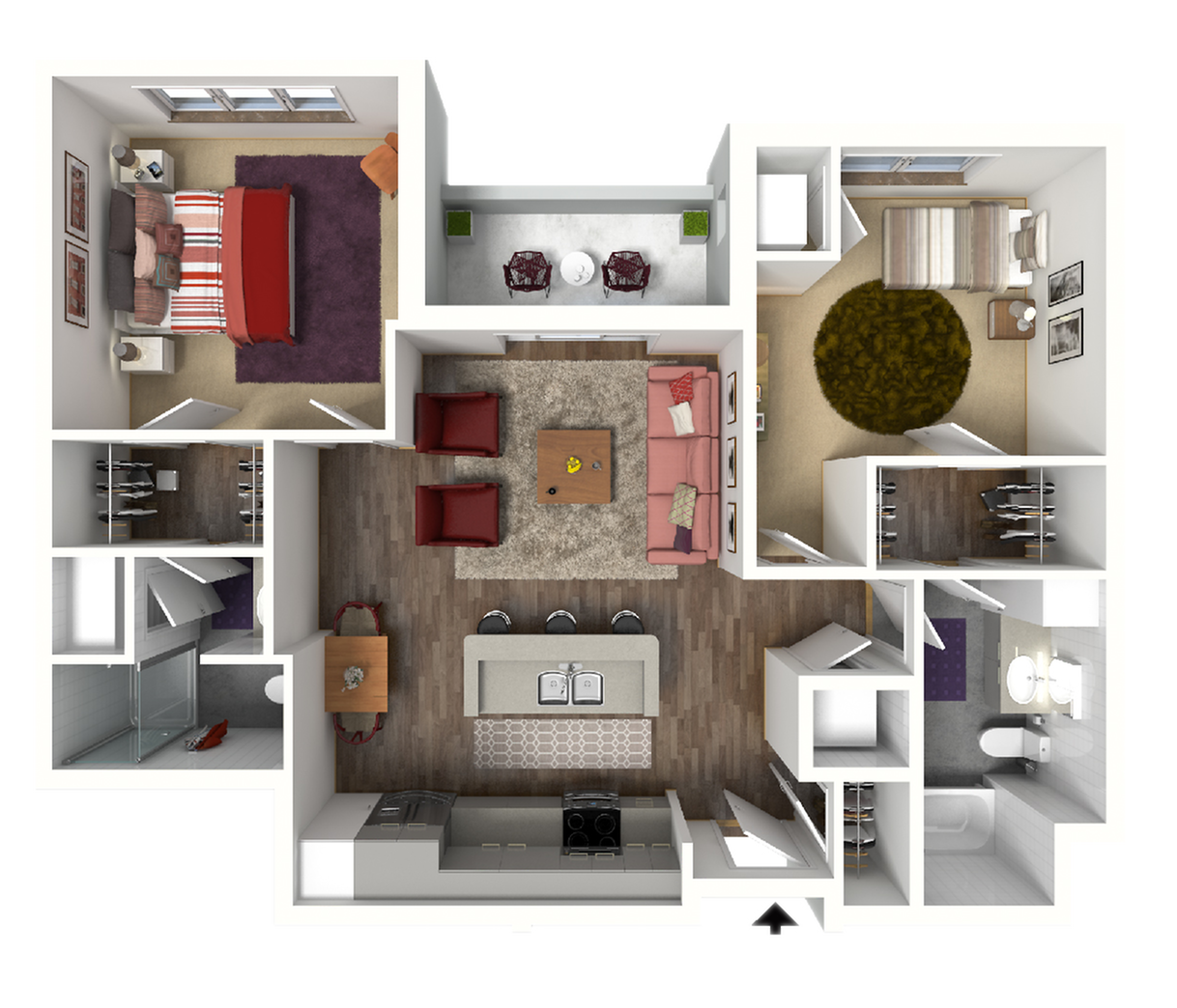 Floor Plan D2 | 22 Slate | Apartments in Madison, WI
