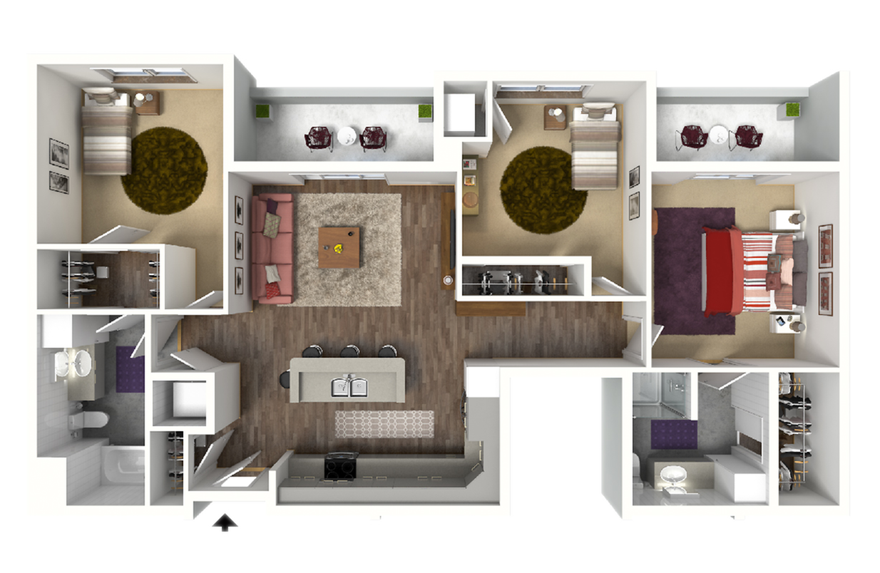 Floor Plan E1 | 22 Slate | Apartments in Madison, WI