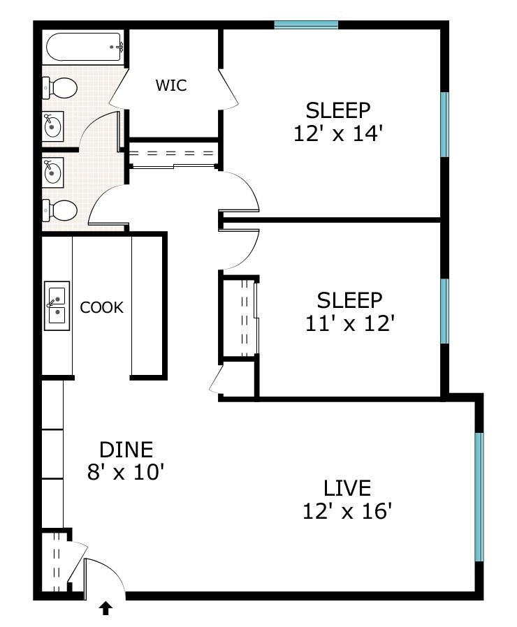 All Floor Plans2 Bedroom 1 5 Bathroom. 2 Bed   1 5 Bath Apartment in Menomonee Falls WI   Stone Point