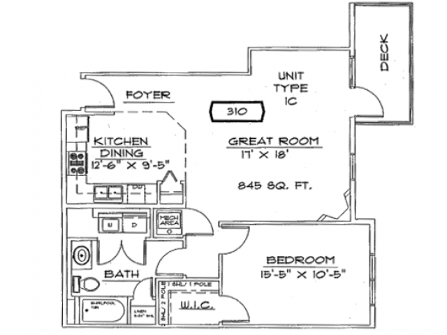 One Bedroom, One Bathroom with Fireplace | Liberty Square | Apartments in Sun Prairie, WI
