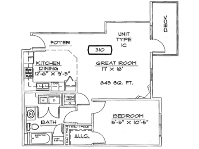 One Bedroom, One Bathroom | Liberty Square | Apartments in Sun Prairie, WI