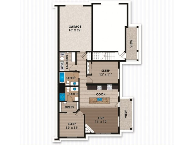 Floor Plan D2 | Bergamont Townhomes | Apartments in Oregon, WI